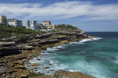 High tide at Gordons Bay located south of Clovelly Beach and north of Coogee Beach in Sydney, New South Wales in Australia