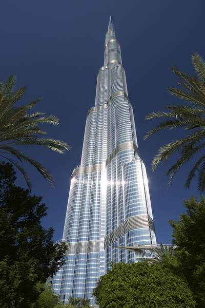 The Burj Khalifa (Khalifa Tower), known as the Burj Dubai is a megatall skyscraper in Dubai, United Arab Emirates. it is the tallest structure in the world since topping out in late 2008 in Asia