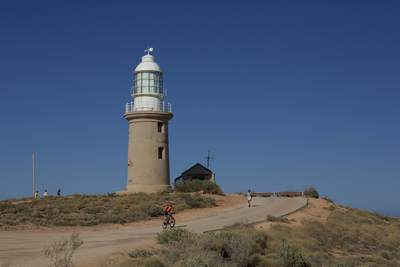 Exmouth lighthouse at Vlaming Head in Exmouth, North West Australia
