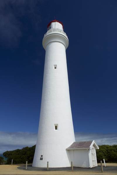 Split Point Lighthouse on Great Ocean Road, illuminated in 1891 to prevent shipwrecks, Victoria, Australia