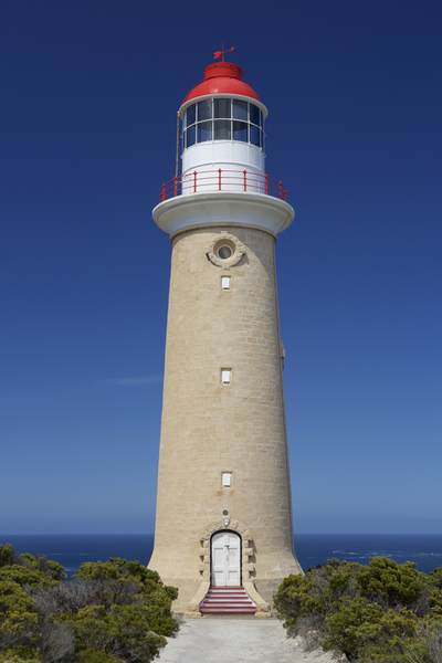 The Cape du Couedic Lighthouse constructed between 1906-1909 built from 2,000 pieces of local sandstone in the Flinders Chase National Park, Kangaroo Island, South Australia