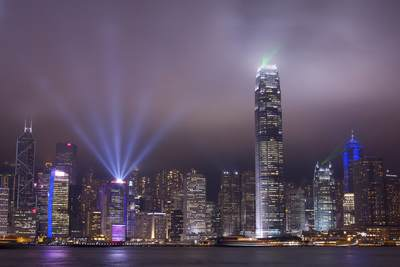 'A Symphony of Lights' - a 10-minute nightly show on Hong Kong Island (viewed from the Kowloon Peninsula) involving 44-high-rise buildings, recorded by the Guinness Book of Records as the world's largest permanent light and sound show in Hong Kong